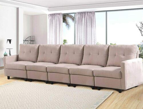 Modern Modular Sectional Modular Couch Rectangular Fabric Upholstered Sofa Chair