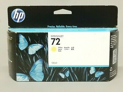 130 Ml Yellow Ink - HP 72 Yellow 130ML Ink Cartridge C9373A DeskJet T1200 Genuine New Sealed Box