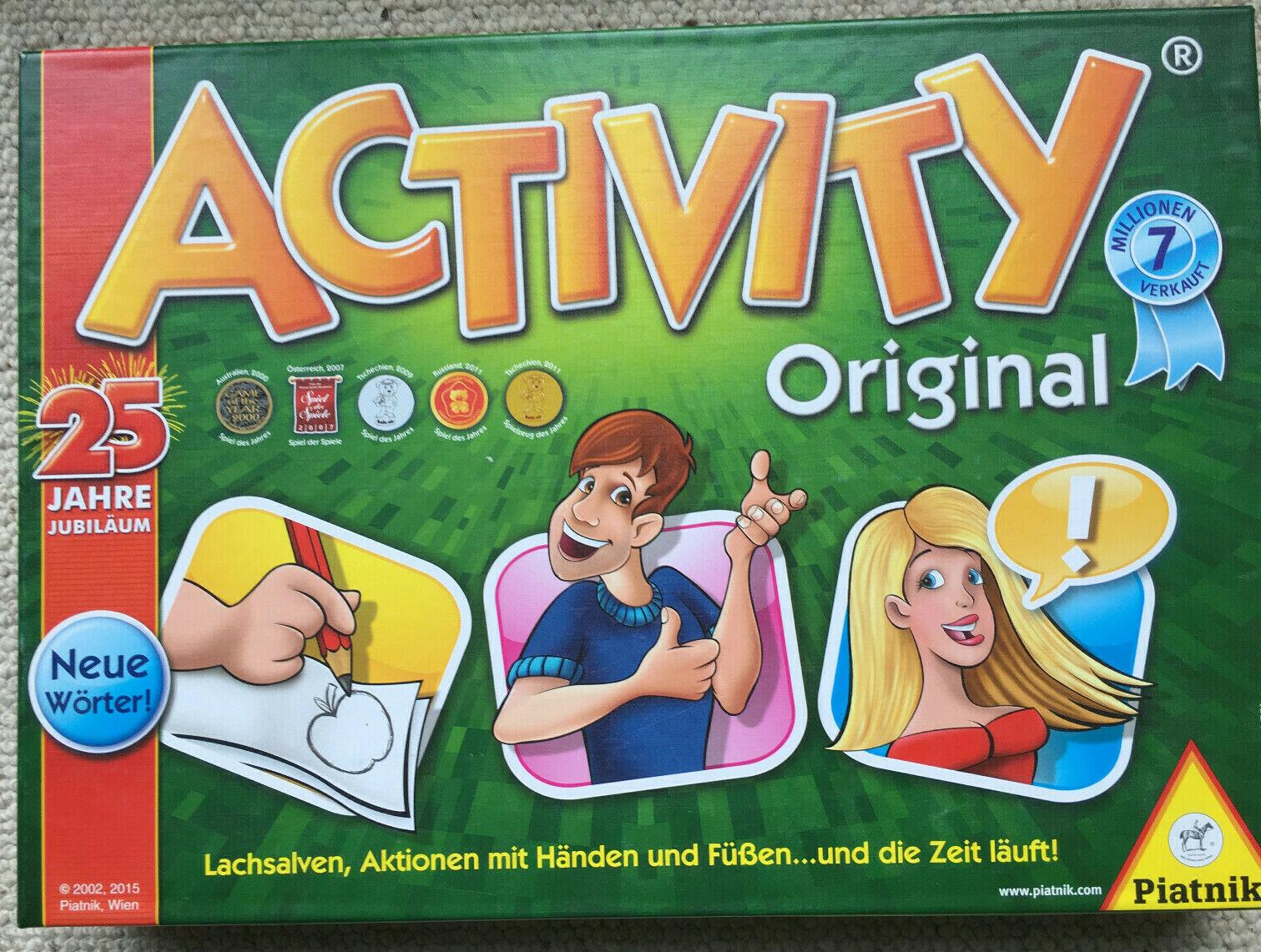 Klassiker Activity Original Piatnik Jubiläumsausgabe , neue Wörter, 3-16 Spieler