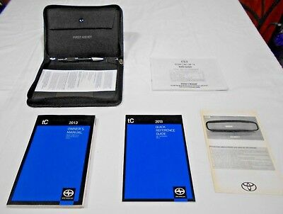 2013 SCION TC OWNER MANUAL 5/PC.SET & DENIM SCION FIRST AID KIT FACTORY CASE //