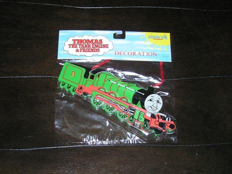 NIP NEW Rare Thomas the Tank Engine Train Wooden Christmas Tree Ornament Henry