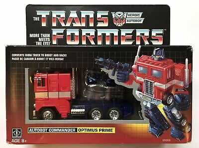 Hasbro Transformers Optimus Prime Vintage G1 reissue Walmart Exclusive New NIB