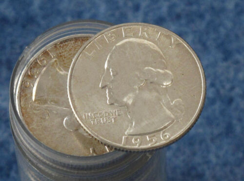 1956 Washington Silver Quarter Uncirculated Roll of 40 E0565