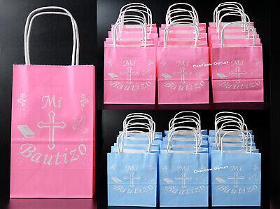 Blue Candy Bags (BAPTISM CANDY GOODY BAGS FAVORS RECUERDOS DE BAUTIZO BOLSAS NINA NINO PINK)