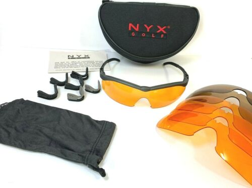 NYX Golf Sunglasses Set with Case-Plus 6 Lenses and 6 Nosepieces