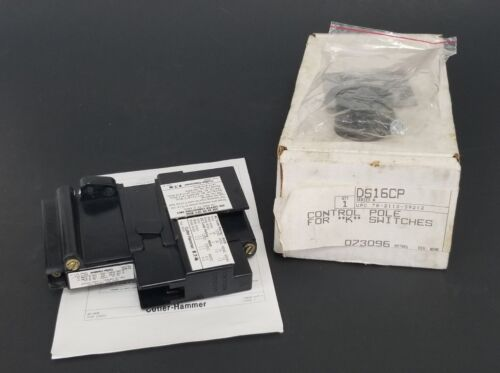 NIB EATON CUTLER HAMMER DS16CP CONTROL POLE FOR K SWITCHES SER. A