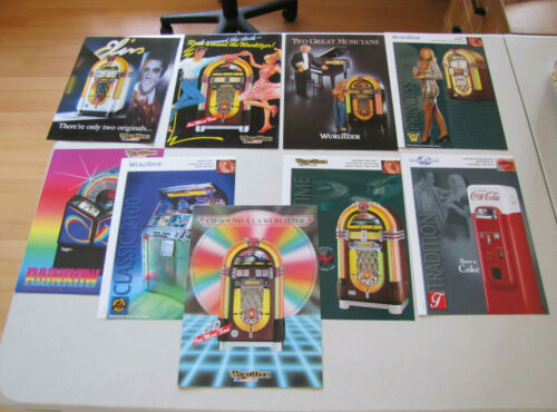 Wurlitzer Jukebox Company Flyers - Sold as a Lot (Modern CD Jukeboxes)