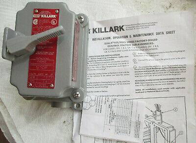 New Killark Switch Fxsx53 Manual Control Station Motor Starter