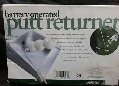 BATTERY OPERATED PUTT RETURNER.