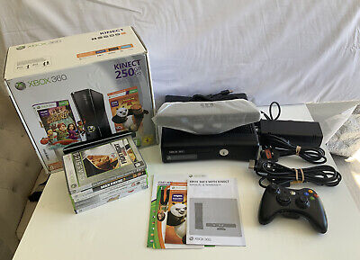 Xbox 360 250GB console BOXED with Kinect, 6 games and 1 wireless controller