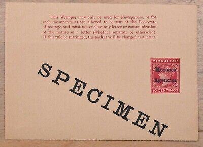 Morocco Agencies Specimen Mint Stationery QV Postal Wrapper
