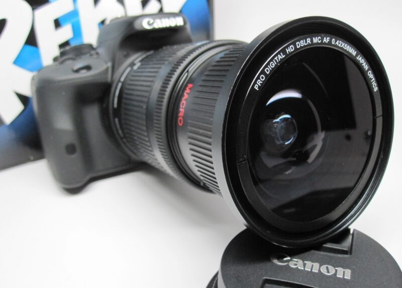 Ultra Wide Angle Macro Fisheye Lens for Canon Eos Digital Rebel  EF-S STM 18-135