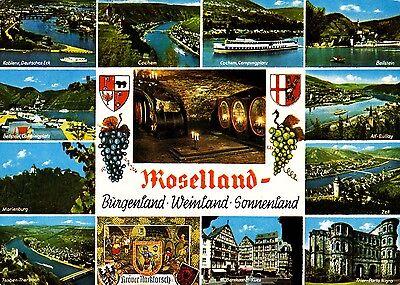 Moselland , Burgenland , Weinland , Sonnenland, Ansichtskarte 1973 gelaufen
