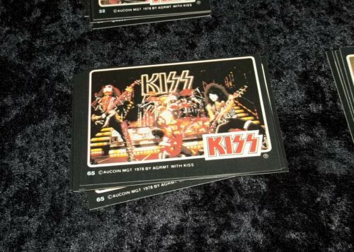 KISS ROCK STARS PHOTO CARDS DONRUSS 1979 GROUP LIVE STAGE #65 CARD (NM) MINT