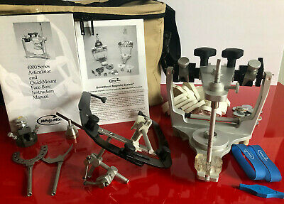 Whip Mix 4640 Semi Adjustable Articulator With Facebow And Other Items In Photo