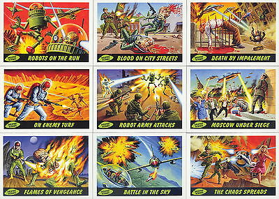 MARS ATTACKS HERITAGE 2012 TOPPS COMPLETE DELETED SCENES INSERT CARD SET 1 - 10