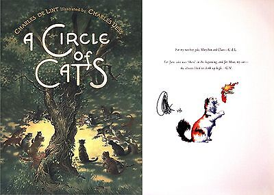 Charles De Lint Signed Circle Of Cats 1st/1st Hc