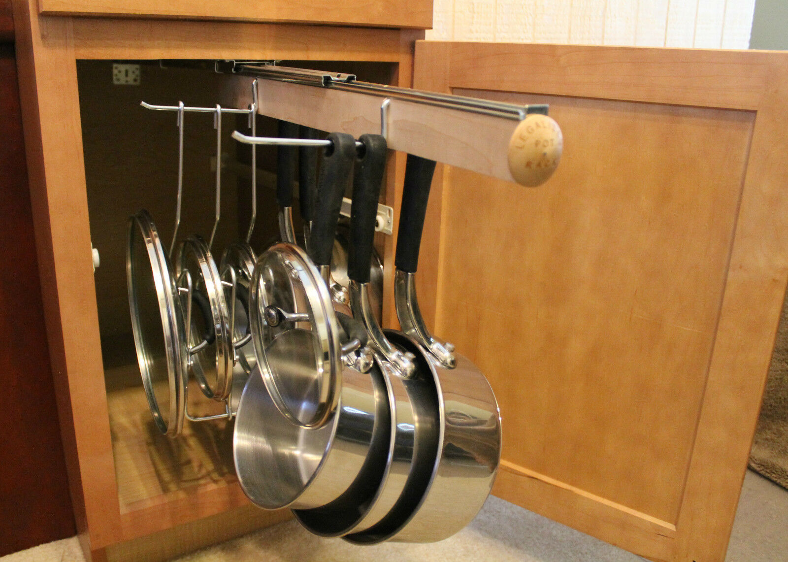 Legalized Pot Rack H/D Pull Out Hanging Pot and Pan Lid ...