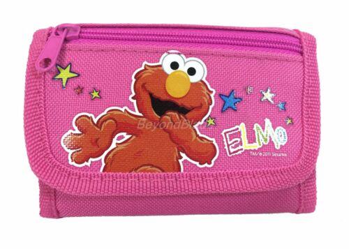 Elmo wallet Pink Children Boys Girls Wallet Kids Cartoon Coin Purse