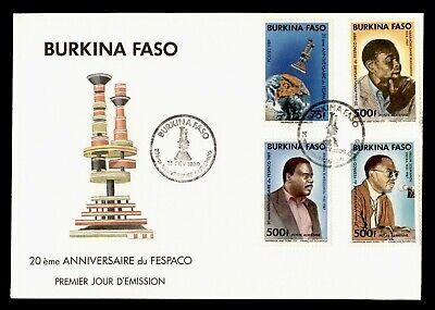 DR WHO 1989 BURKINA FASO FDC 20TH ANNIV FESPACO  C244633