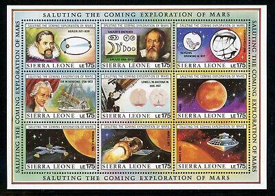 SIERRA LEONE MNH Selections: Scott #1167 Exploration of MARS SPACE CV$20+