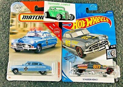 Hot Wheels / Matchbox - Lot of 2 - Vintage Police '51 Hudson Hornet NEW  C187