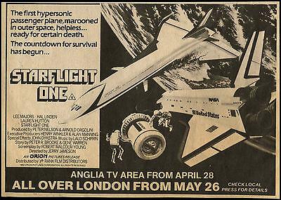 Starflight One 1983 Cinema Release Comic Magazine Advert #17695