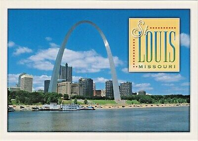 St. Louis, Missouri Skyline, Gateway Arch, Mississippi Riverfront and -