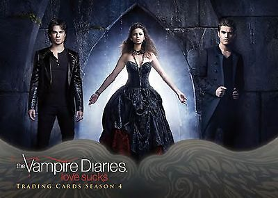 Vampire Diaries season 4 mini-master set - Base & 3 insert sets - 99 cards