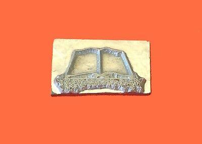 HOT FOIL PRINTING PLATE LETTERPRESS BLOCK Wedding Book 37 x 20mm #264