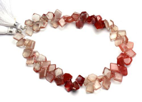 """Natural Gem Andesine Labradorite Faceted Slice Shape Beads 9"""" Strand 76Cts."""
