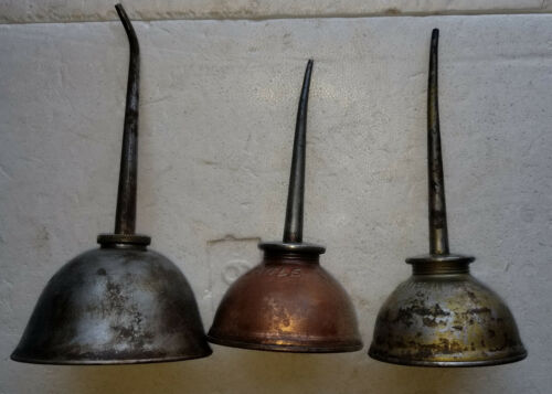 EAGLE VINTAGE OIL CAN DISPENSERS (LOT OF 3)