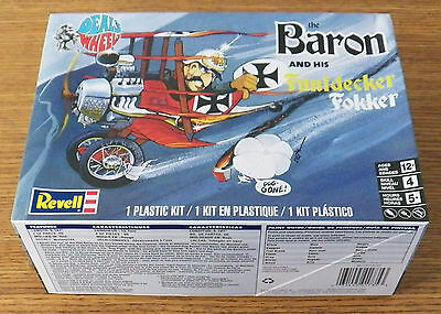 Revell Monogram 1735 The Baron and his Funfdecker Fokker Model Kit about 1/48