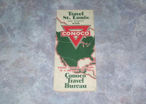 Conoco St Louis MO Gas Station Road Map Vintage 1934 H M Gousha H-322-CC