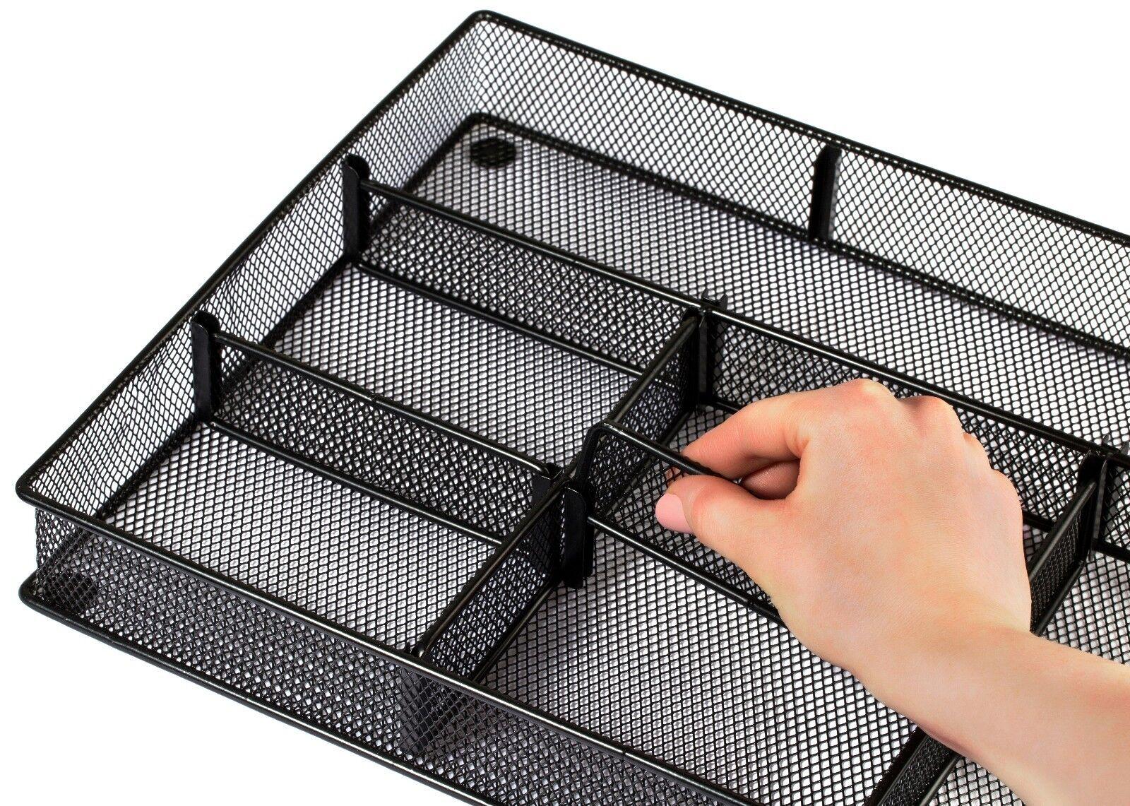 Adjustable Metal Drawer Organizer - 20 Dividers for Custom T