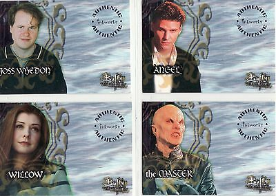 Buffy The Vampire Slayer Ultra Rare Season One 4 Card Unsigned Auto Set