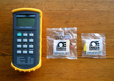 Omega Hh503 Digital Thermometer J Or K Input Includes New Type K Thermocouple