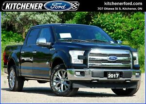2017 Ford F-150 King Ranch TECH PKG/LEATHER/MOONROOF/360 CAM/...