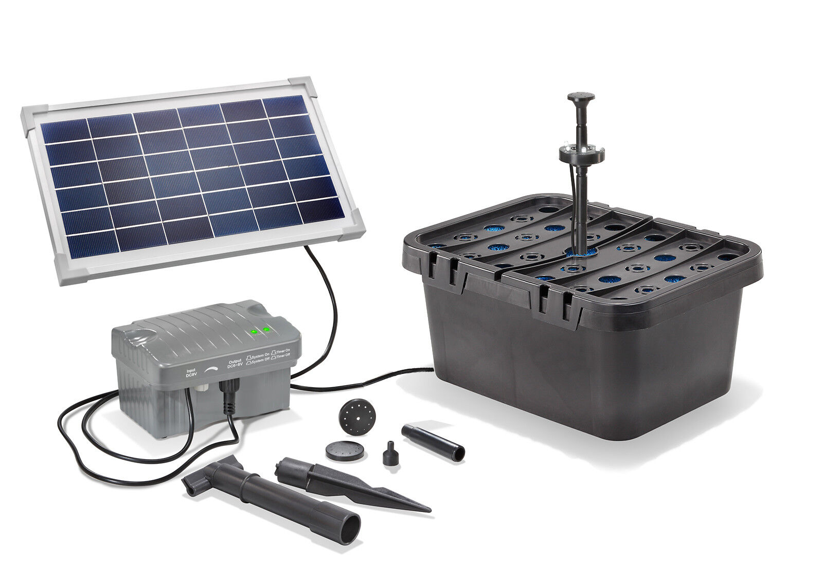 Solar Ersatzpumpe Filter Gartenpumpe Wasserpumpe Pumpe Filtergehäuse Filtermatte