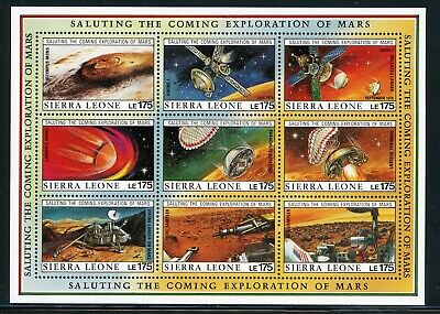 SIERRA LEONE MNH Selections: Scott #1169 Exploration of MARS SPACE CV$20+