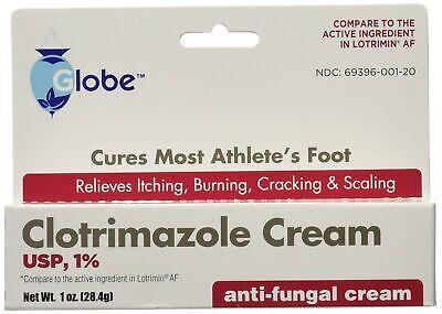 Clotrimazole Antifungal Cream 1% USP 1.0 oz Compare to Lotr