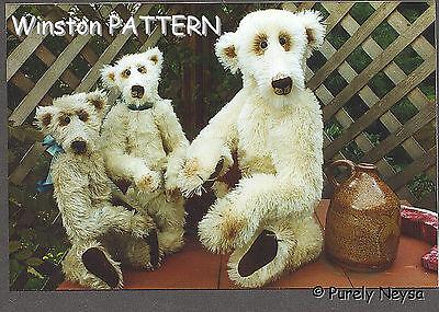 "Mohair/Plush ""Winston"" Teddy Bear PATTERN by Neysa A. Phillippi of Purely Neysa"