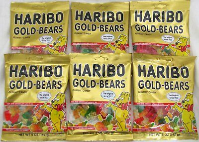 - Haribo Gummi Gold Bears Candy Original Bulk Gummy Candies 5 oz Bags (6 Packs)