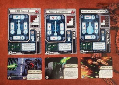 Star Wars Armada Promo Cards G20A1 Free Shipping CR90 Corvette, Nebulon-B + more
