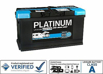 12V Platinum 100AH AGM Deep Cycle Leisure Battery - NCC Approved Class A