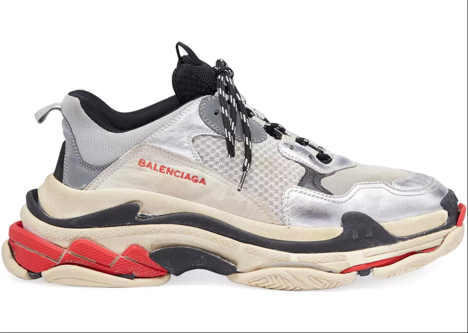 Balenciaga Triple S Sneakers Silver