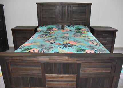 Queen Size Bed Frame, Solid Timber, Perfect Condition, RRP $1500