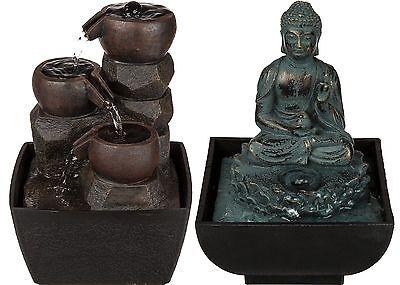 Tischbrunnen Zimmerbrunnen Asia Buddha Feng Shui Japan Springbrunnen Wasserspiel (Springbrunnen Buddha Wasser)