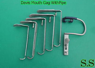 Davis Mouth Gag With Pipe Surgical Dental Anesthesia Instruments
