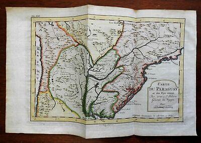 La Plata Uruguay Brazil Paraguay Buenos Aires Rio de Janeiro 1772 Bellin map